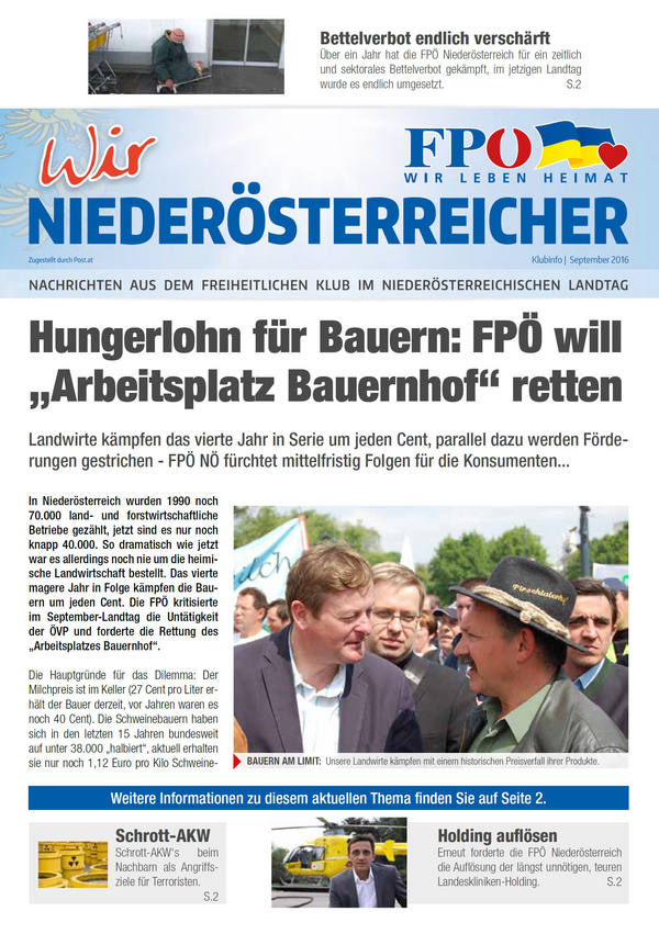 Klubinfo Freiheitliche Partei österreichs Niederösterreich